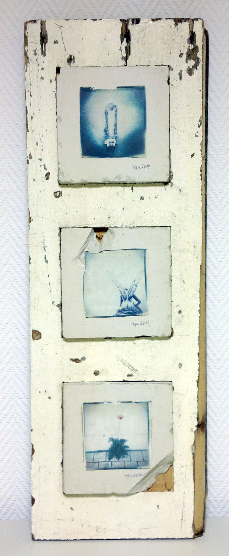 """no 0014 - BetrachtStein-Triptychon """"Erde, Himmel, Licht!"""""""