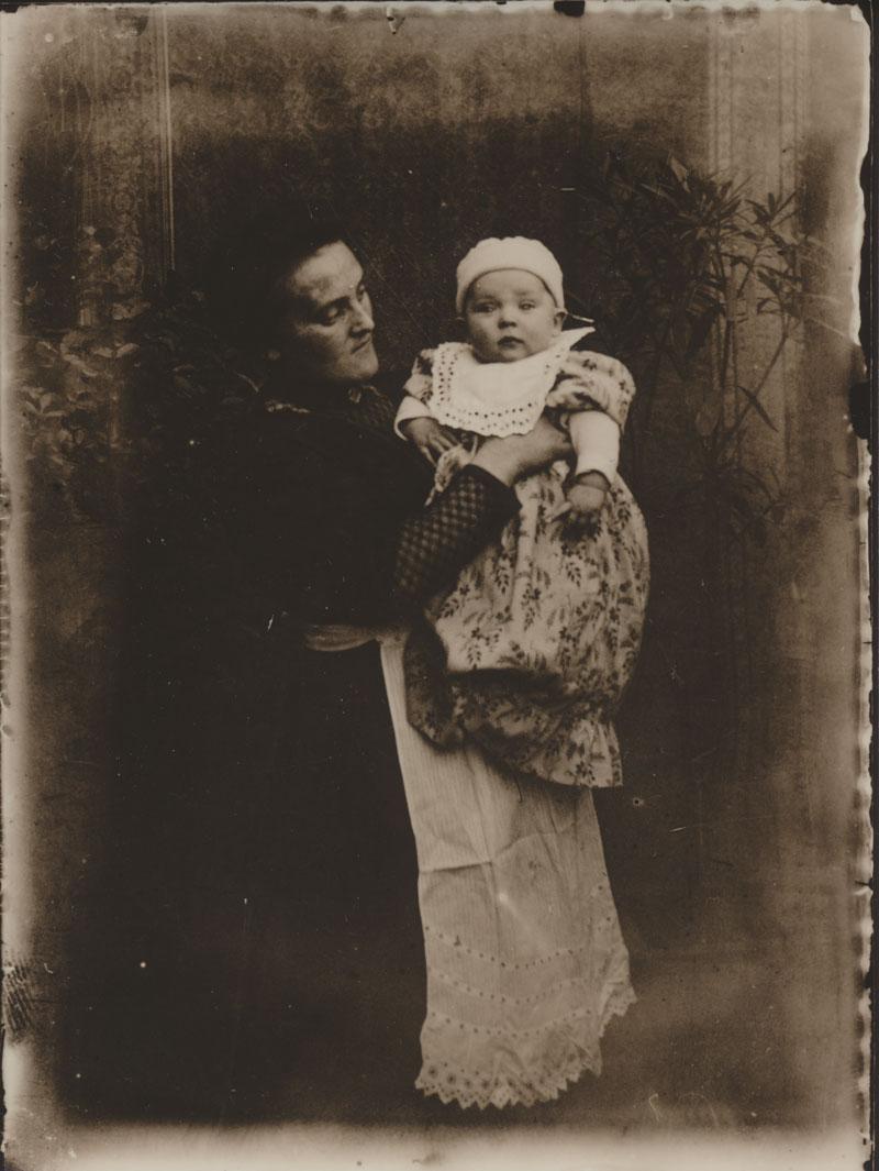 Szene Mutter mit Baby